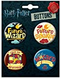 Ata-Boy Harry Potter Wizard School 4 Button Set