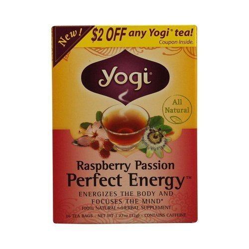 Yogi Raspberry Passion Perfect Energy, 1.12-Ounce Packages (Pack of 6) ( Value Bulk Multi-pack) by YOGI