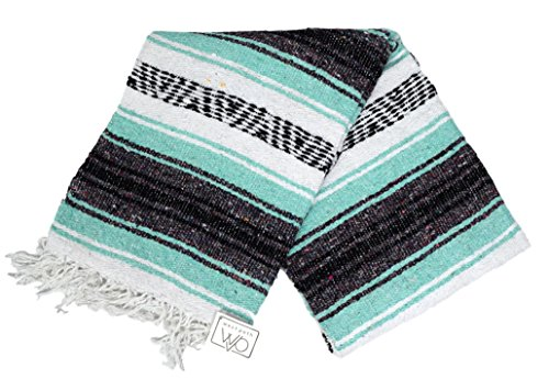 Mint Teal Mexican Falsa Blanket product image