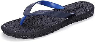 CS Schwarze Flip-Flops Sommer Indoor Hausschuhe Rutschfeste Strandschuhe Herren Outdoor Hausschuhe (Color : Black, Size : 43)