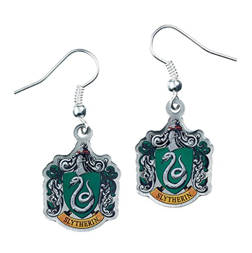 Official Harry Potter Jewellery Slytherin Crest Earrings