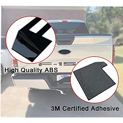 Tailgate Insert Letters for Ford F150 2020 2020 2020-3M Adhesive & 3D Raised Tailgate Decal Letters - Gloss Black: Automotive