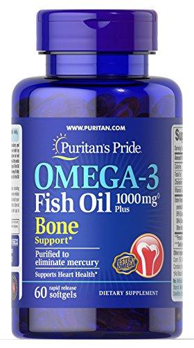 Puritan's Pride Omega-3 Fish Oil 1000 mg Plus Bone Support-6