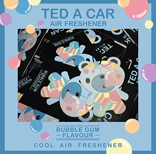 TED A CAR - BUBBLE GUM AIR FRESHENER (Turquoise Gum Gems compare prices)