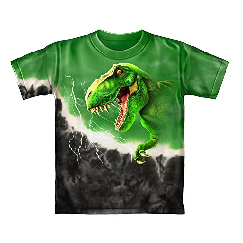 T-Rex Green Tie-Dye Youth Tee Shirt (Kids ()
