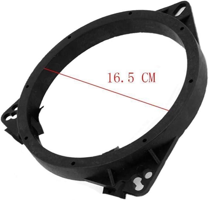 ZYHW 6.5 Car Speaker Spacers Adapter Black Plastic Mount Bracket Ring for Toyota 1.8cm Depth 2 Pcs