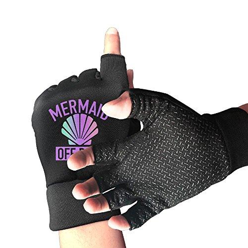 Mermaid Off Duty Half Finger Sports Exercise Gloves Mens/Womens Fitness ANTI SLIP Workout Gloves Outdoor Sports Anti-slip Gloves