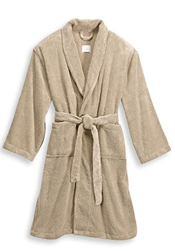 Hotel Collection Ultimate Luxury Zero Twist Terry Bathrobe (One Size, Sandstone)
