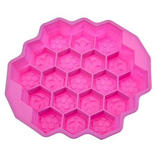 StarSide Chocolat Pizza Baking Tray Silicone Mould Bees Honeycomb Cake Pan Mold (Bee Soap Mold)