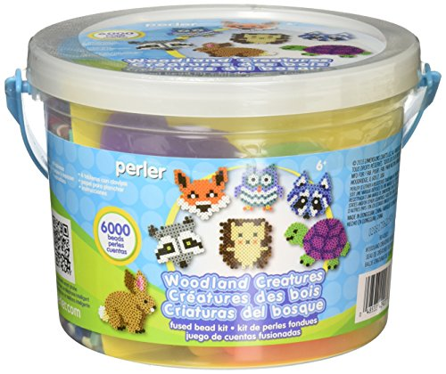 Perler Beads 80-42923 Perler Woodland Creatures Fused Bead Activity Bucket_80-42923,, (Perler Bucket Beads)