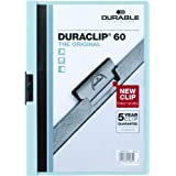 Durable Vinyl DuraClip Report Cover with Clip, Letter, Holds 60 Pages, Clear/Light Blue (DBL221406)