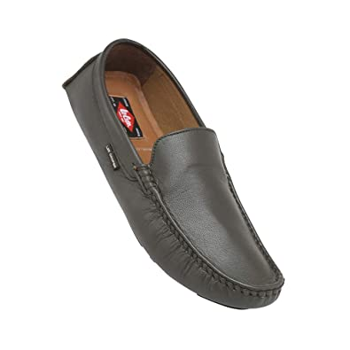 800e68f09e Lee Cooper Men's Leather Loafers-8 UK/India (42 EU) (LC2342 Gray ...