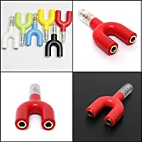 Get 3.5mm Stereo 1 Male To 2 Female Audio Y-Splitter Headphone Earphone Plug Adapter / . 3.5mm Stereo 1 Male To 2... opportunity