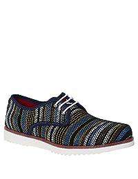 Zapato Casual para Caballero Suela Extra Ligth Color Teji Salvaje Azul