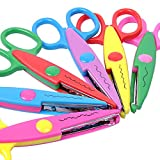 UCEC 6 Colorful Decorative Paper Edge Scissor Set, Great for Teachers, Crafts, Scrapbooking, Kids Design