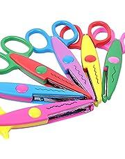UCEC 6 Colorful Decorative Paper Edge Scissor Set, Scrapbooking Edger Scissors Art Creative Crafts Scissors Wave Edge Cutters Great for Teachers, Crafts, Kids Design