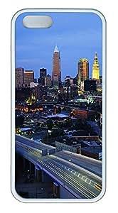 iPhone 5 5S Case Cleveland Ohio TPU Custom iPhone 5 5S Case Cover White