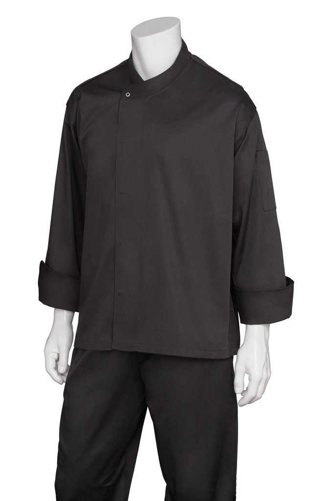 Chef Works Men's New Yorker Cool Vent Chef Coat, Black, 3X-Large