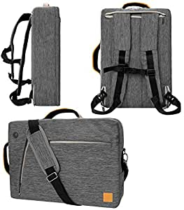 """VanGoddy Slate Convertible Laptop Bag for Microsoft Surface Book 2 13.5"""" 15"""", Surface Pro 6 12.3"""", Surface Laptop 2 13.5"""" Gray Gray 13inch"""