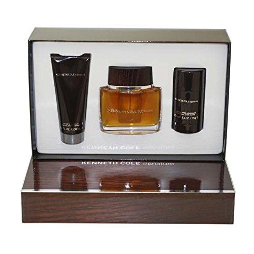 Kenneth Cole Signature 3 Piece Gift Set (Eau De Toilette Spray 3.4 Oz, Alcohol-free Deodorant Stick 2.6 Oz & Aftershave Balm 3.4 Oz) for Men, 3.4 fl. Oz. SIG7M