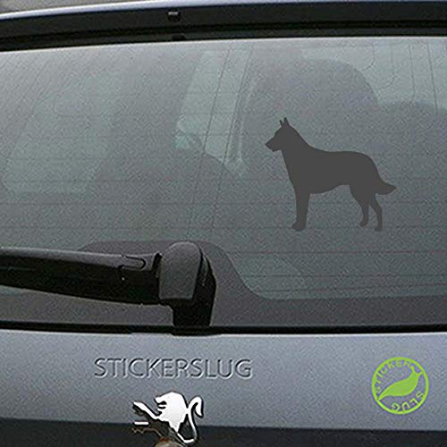 (Belgian Malinois Dog Decal Sticker (Charcoal, 8 inch) for rvs ATV Boats b10981)
