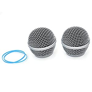 ZRAMO TH115 Microphone Ball Head Mesh Grill for Shure SM58 BETA58 SM58LC SA-M30 SV100 RK143G for Shure Pgx2 Slx2…
