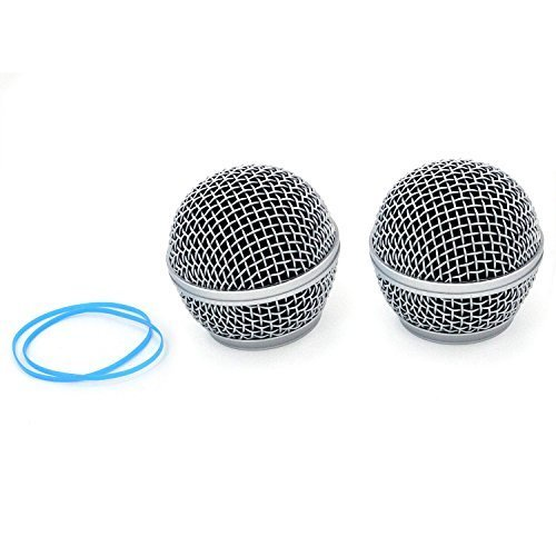 ZRAMO TH115 Microphone Ball Head Mesh Grill for Shure SM58 BETA58 SM58LC SA-M30 SV100 RK143G for Shure Pgx2 Slx2 Wireless Microphones Replacement Universal Screen