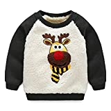 Product review for Baby Boys Girls Toddler Lovely Christmas Lambswool Thick Winter Warm Sweatshirt Pullover
