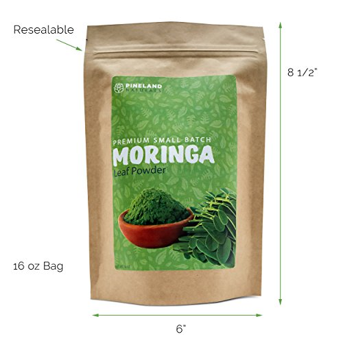 Moringa Leaf Powder Metabolism, Weight, Protein & Mood Boost: used in Smoothies, Shakes, Tea and Baking - Premium Small Batch, 14 Oz. - 2 Pack
