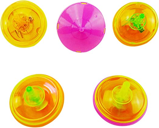 Toyvian 24pcs Mini Destellos de Spinning Tops Juguetes LED ...