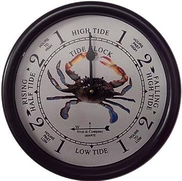 West Company 9 1 2 Blue Crab Tide Clock
