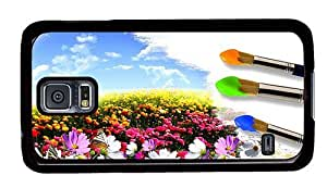 Hipster Samsung Galaxy S5 Case the best Painting Flower Field PC Black for Samsung S5 by icecream design