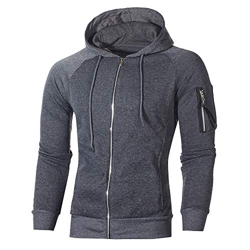 Realdo Men's Tracksuit Set Clearance, Autumn Winter Pocket Sweatshirt Hoodie Sports Suit (XXX-Large,Dark Grey)]()