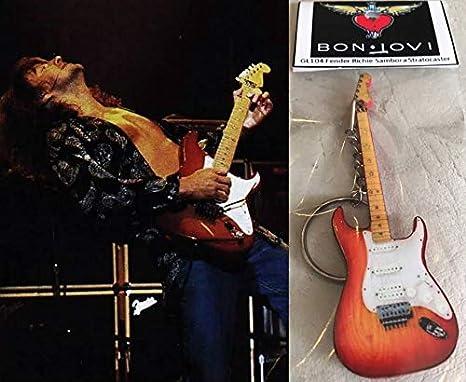 Llavero de guitarra Fender Richie Sambora Stratocaster Bon Jovi Cherry Burst: Amazon.es: Instrumentos musicales