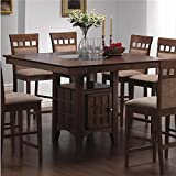 Perfect Mix U0026 Match Counter Height Dining Table With Storage Pedestal Base