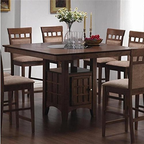Mix & Match Counter-Height Dining Table with Storage Pedestal Base