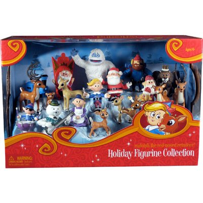 Round 2 Rudolph 15 Piece Ultimate Figurine Holiday Collection Set (Elf From Santa Clause)