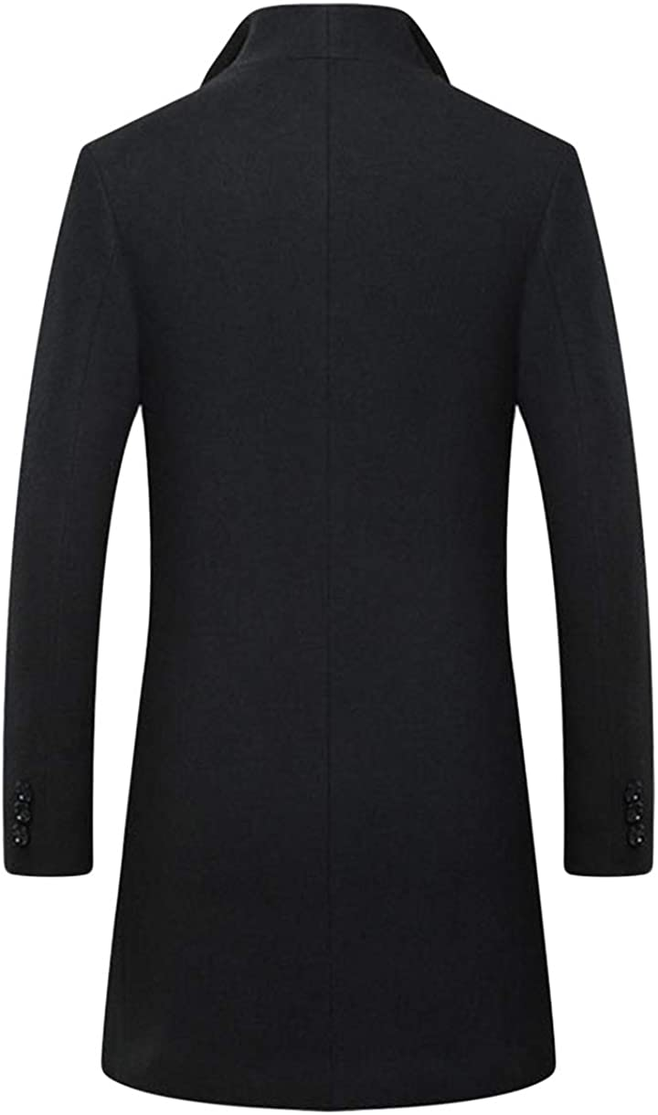 Oncefirst Mens Wool Blend Coat Business Jacket Topcoat