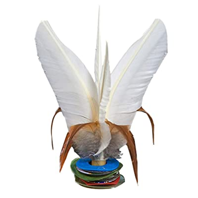 EMUST Chinese Jianzi Sport White - Feather Kick Shuttlecock Play with Friends 16cm: Toys & Games