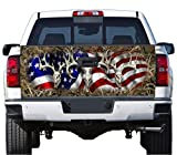 Truck Tailgate Wrap Decal Deer Skull Flag Grass Camo 3m 7 Yr Vinyl Laminated For Sale