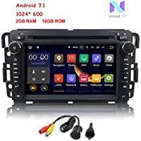 MCWAUTO 2 Din Car In Dash Radio DVD Player for GMC Buick Chevy Android 7.1 OS 2GB RAM Multi-Media Player WIFI 4G BLUETOOTH TPMS DAB+ OBD2 and Free Rear Camera/Pre-loaded Map