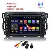 yukon denali dvd player - MCWAUTO 2 Din Car In Dash Radio DVD Player for GMC Buick Chevy Android 7.1 OS 2GB RAM Multi-Media Player WIFI 4G BLUETOOTH TPMS DAB+ OBD2 and Free Rear Camera/Pre-loaded Map