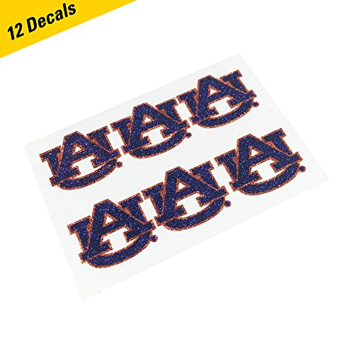 EyeBlack Auburn Tigers Glitter Cheek Decals, Perfect for Game Day and Tailgate (12 Decals)