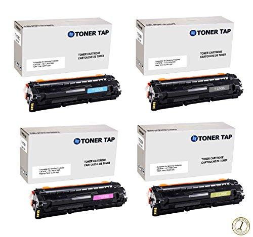 Toner Tap® Compatibles Toner Cartridge Set for Use In Samsung ProXpress C2620DW, C2670FW, SL-C2620DW/XAA Color Laser Printers, Replace Samsung CLT-K505L, CLT-C505L, CLT-M505L, CLT-Y505L