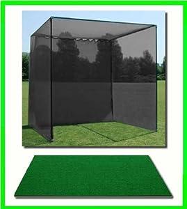 Amazon Com Golf Mat Golf Net Cage 10 X10 X10 Golf Net