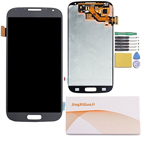 JingXiGuoJi® Novelty Replacement Digitizer and Touch Screen LCD Assembly with tools for Samsung Galaxy S4 Mini i9192/i9190/i9195/i257/i435/L520 (Black)