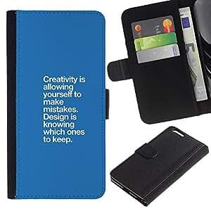 Paccase / Billetera de Cuero Caso del tirón Titular de la tarjeta Carcasa Funda para - blue creativity mistakes design point - Apple Iphone 6 PLUS 5.5