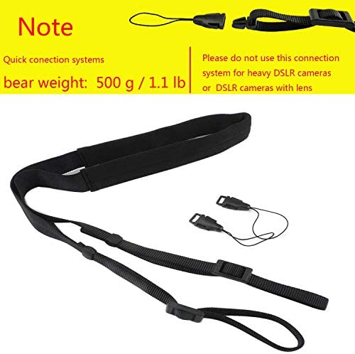 CHMETE Washable Soft Neoprene Camera Neck Strap (Black) 511v4l704yL