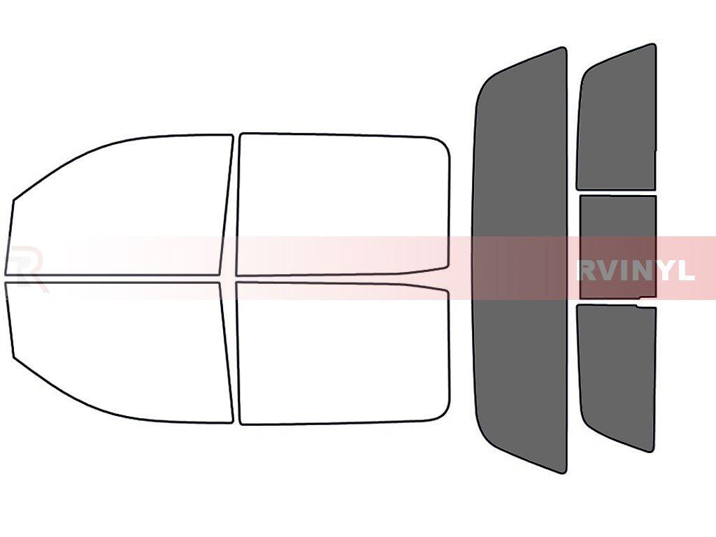 Rtint Window Tint Kit for Chevrolet Silverado 2014-2017 (4 Door) - Front Kit - 35% Rvinyl