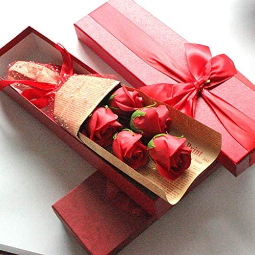 Iusun Rose Soap Flowers Soap Gift Box | Best Wishes for You,DIY Romantic Valentine's Day Bridal Wedding Party Festival Holiday